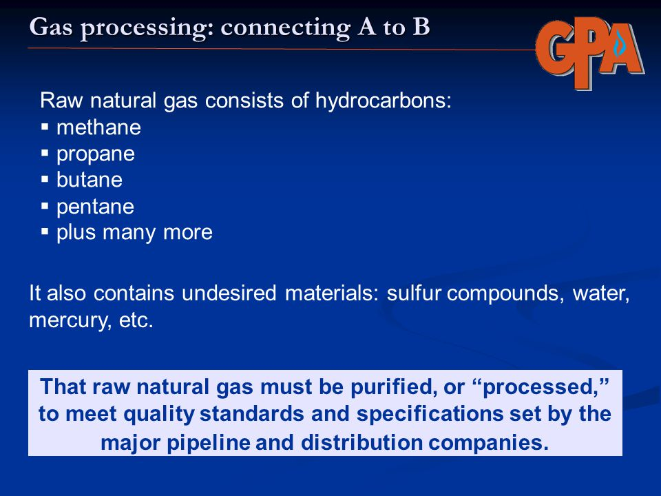 Gas processing: connecting A to B