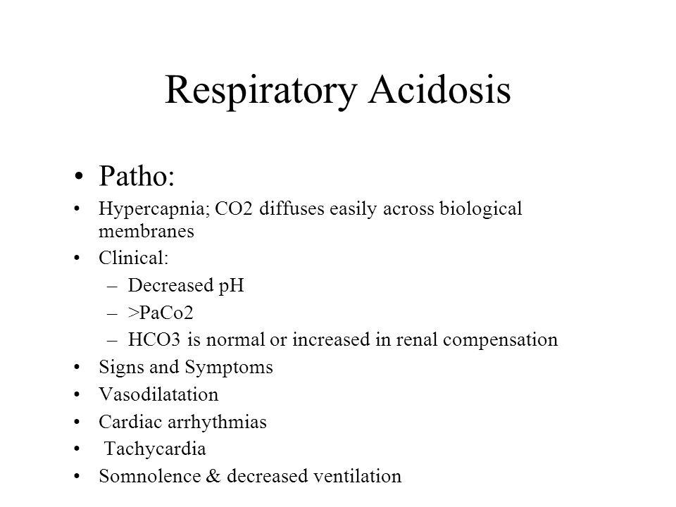 Respiratory Acidosis Patho: