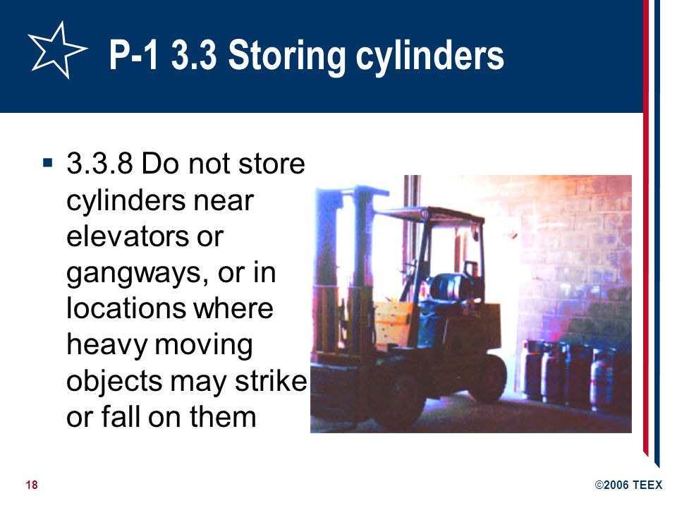 P-1 3.3 Storing cylinders
