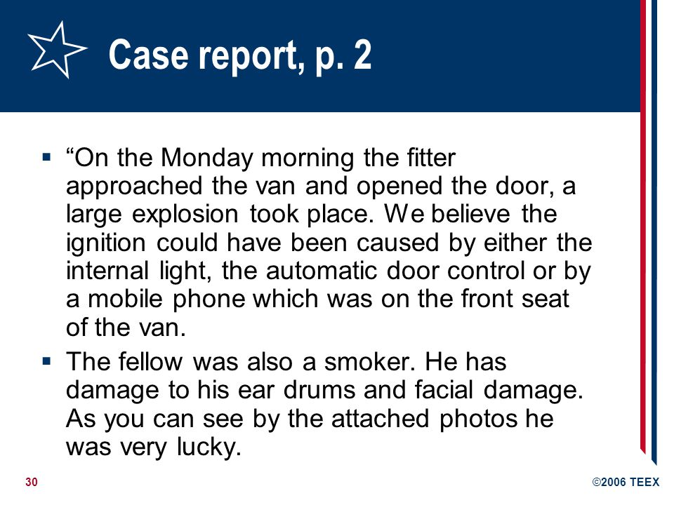 Case report, p. 2