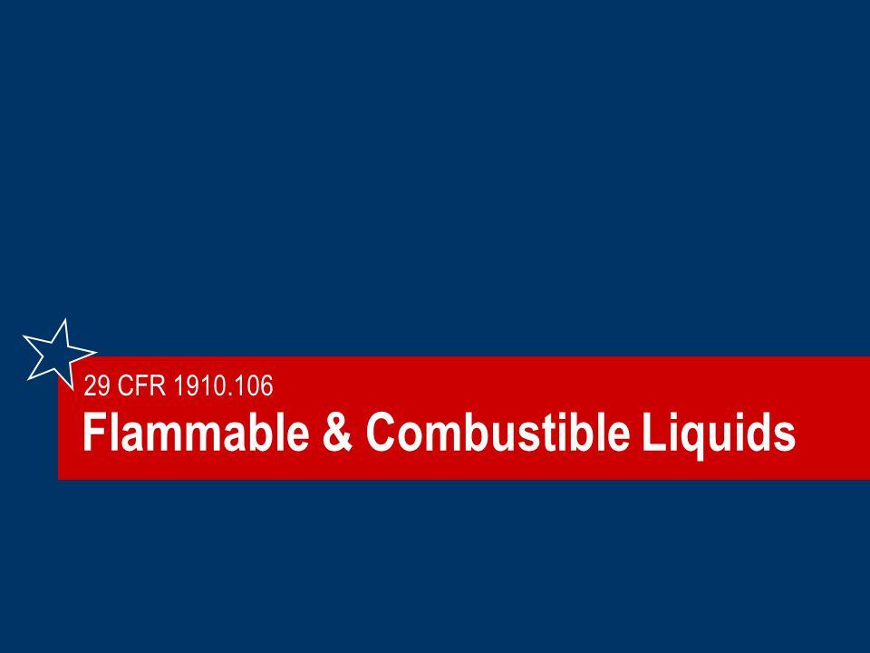 Flammable & Combustible Liquids