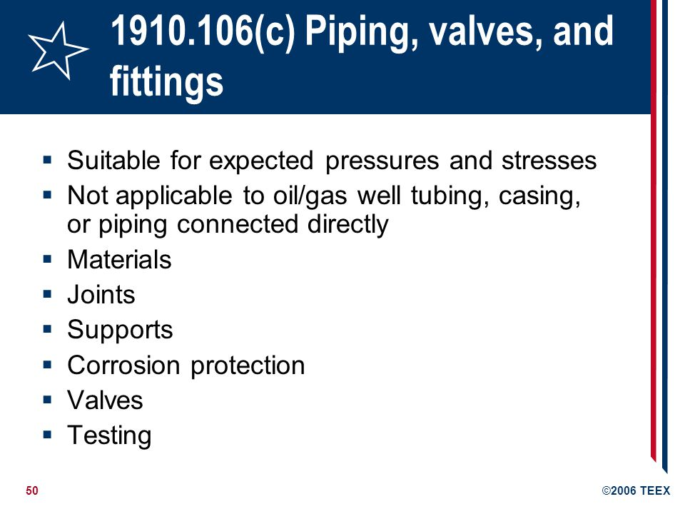 1910.106(c) Piping, valves, and fittings