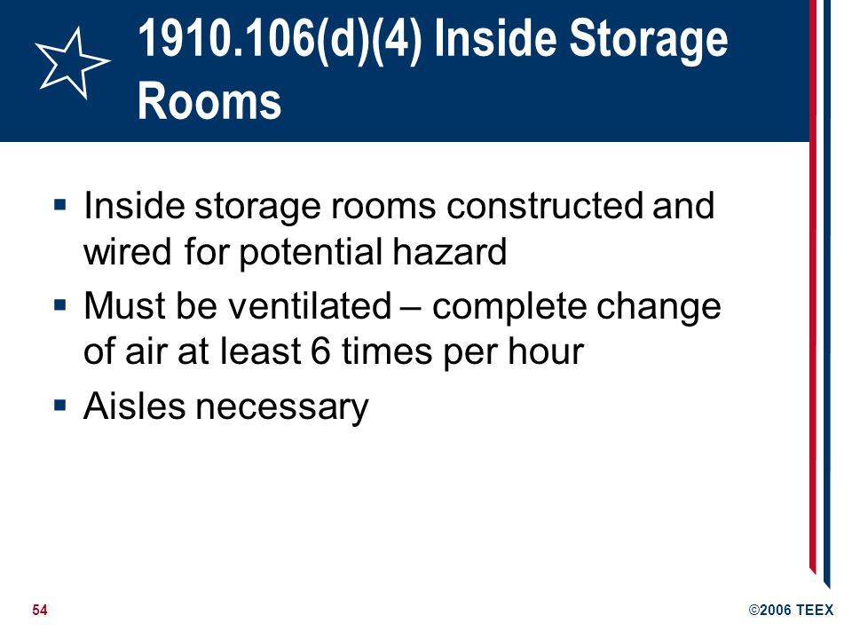 1910.106(d)(4) Inside Storage Rooms