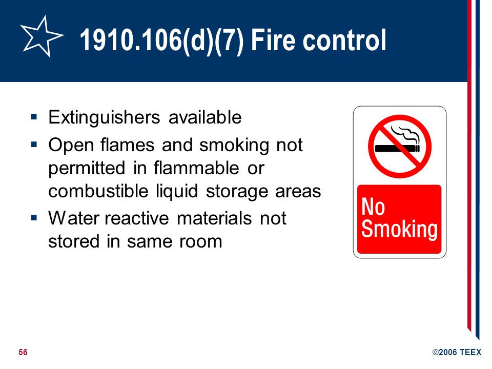 1910.106(d)(7) Fire control Extinguishers available