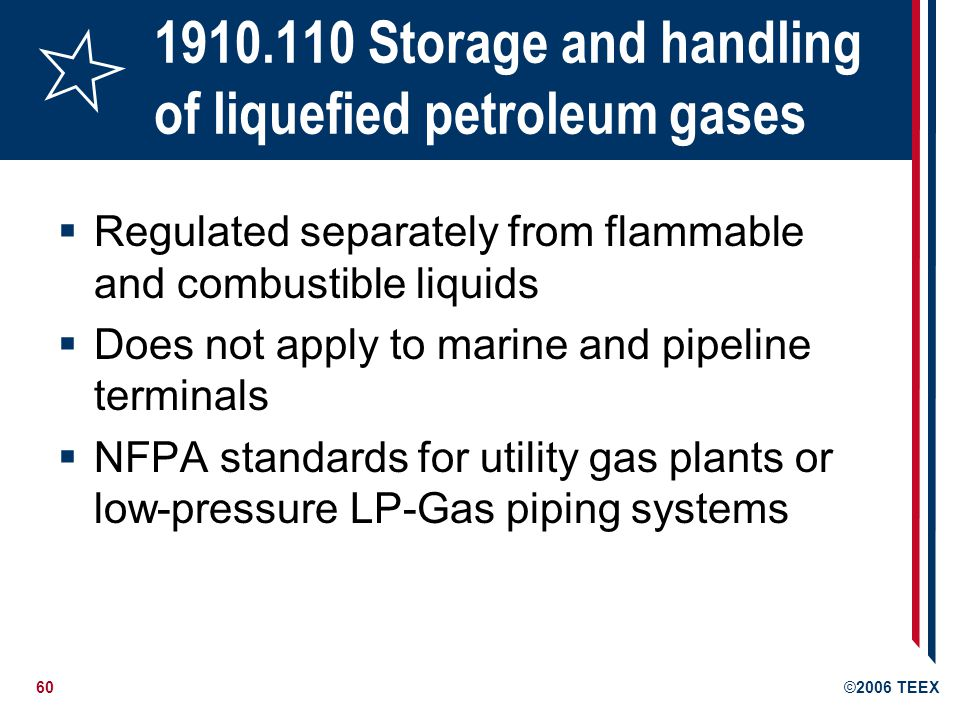 1910.110 Storage and handling of liquefied petroleum gases