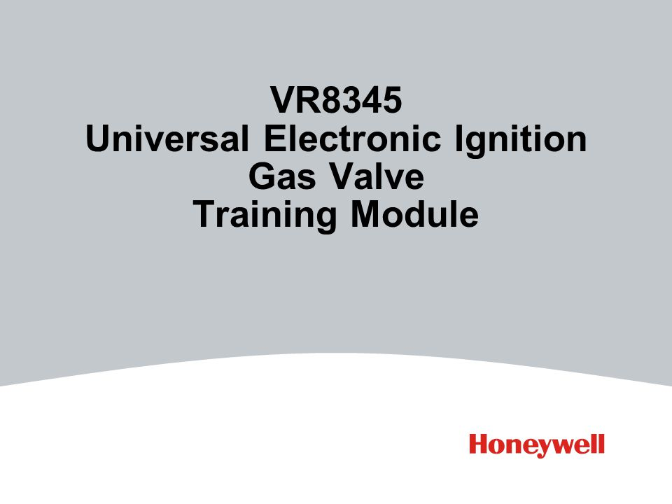 VR8345 Universal Electronic Ignition Gas Valve Training Module