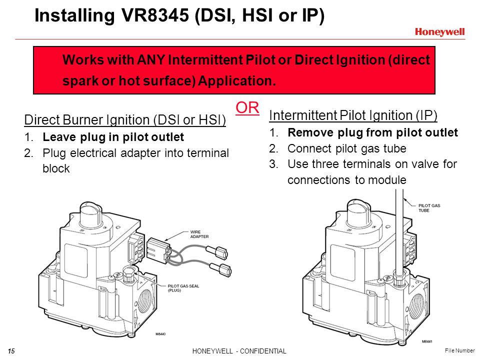 Installing+VR8345+%28DSI%2C+HSI+or+IP%29 vr8345 universal electronic ignition gas valve training module honeywell gas valve wiring diagram at n-0.co