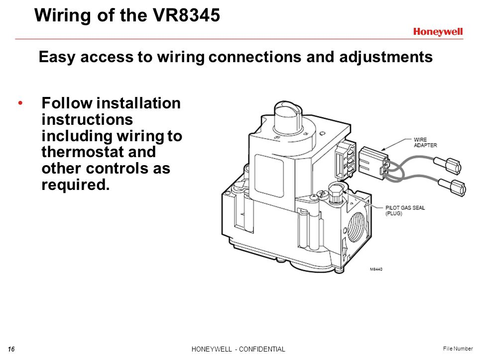 Wiring of the VR8345 Easy access to wiring connections and adjustments