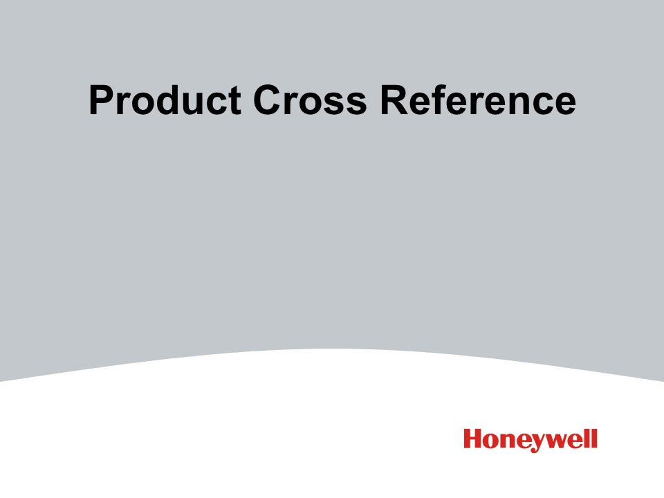 Product Cross Reference