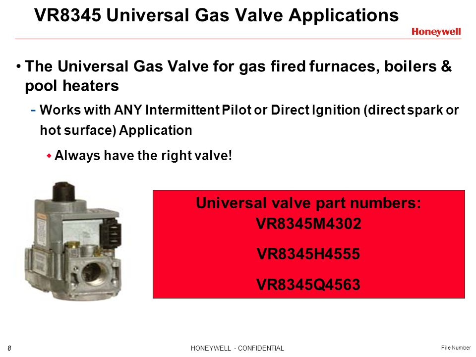 VR8345 Universal Gas Valve Applications