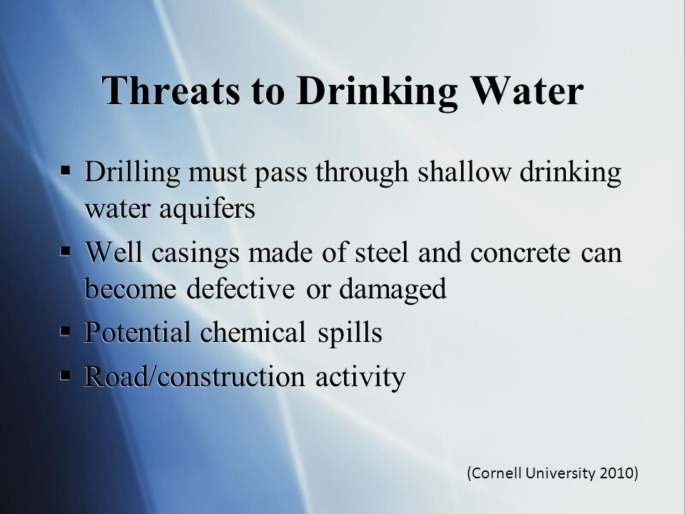 Threats to Drinking Water