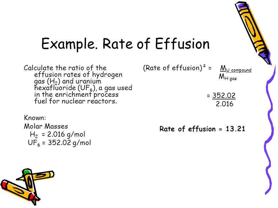 Example. Rate of Effusion