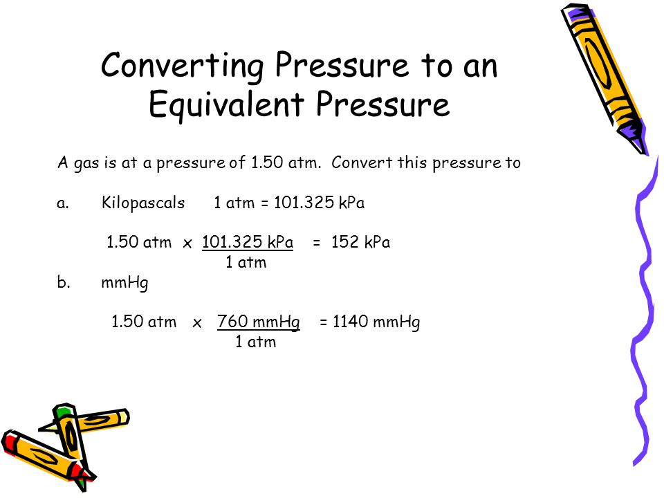 Converting Pressure to an Equivalent Pressure