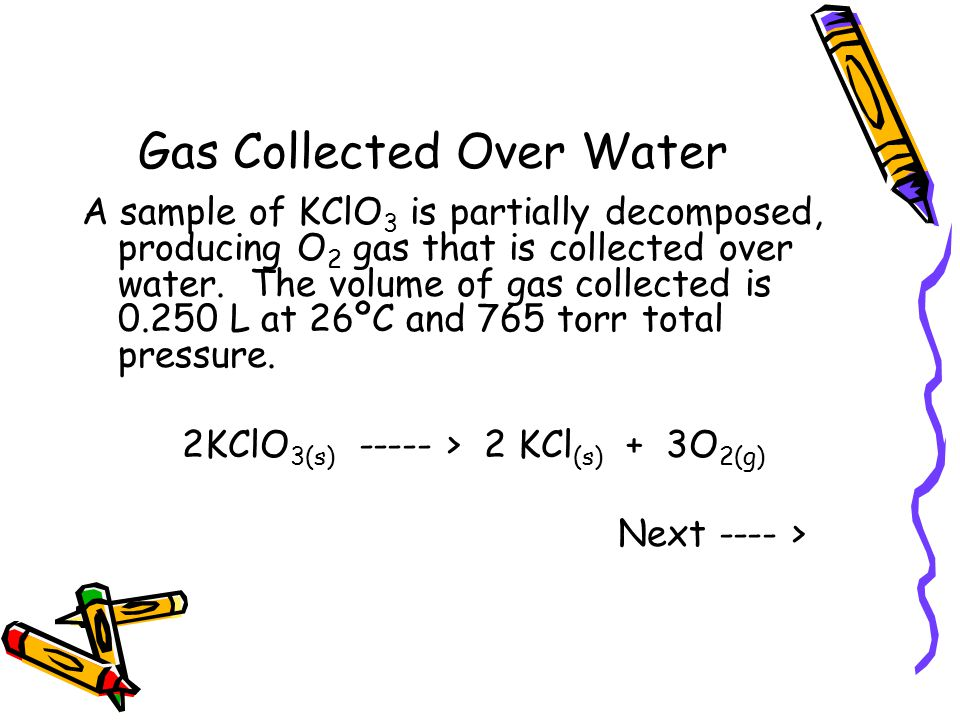 Gas Collected Over Water