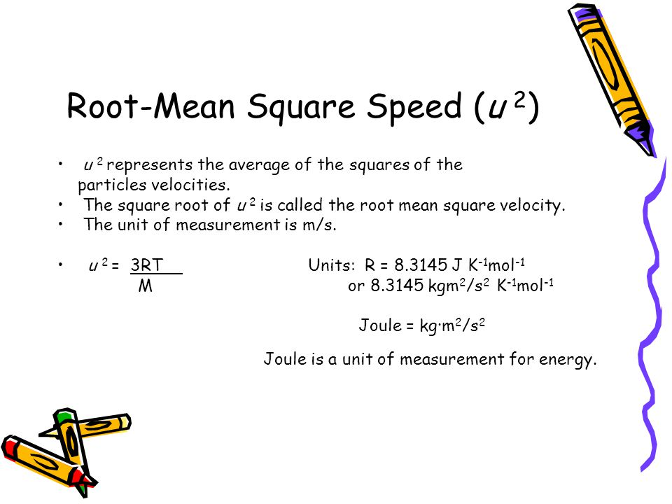 Root-Mean Square Speed (u 2)