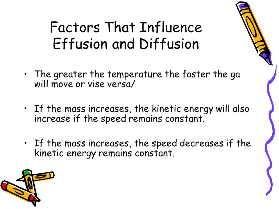 Factors That Influence Effusion and Diffusion