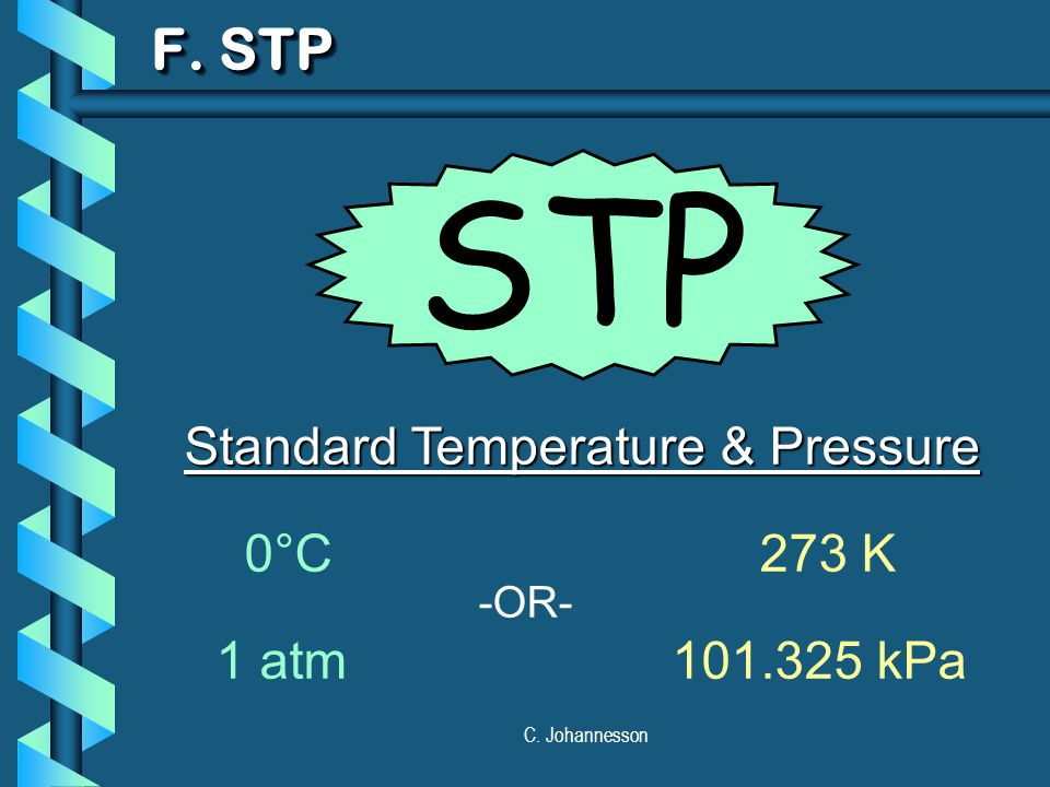Standard Temperature & Pressure