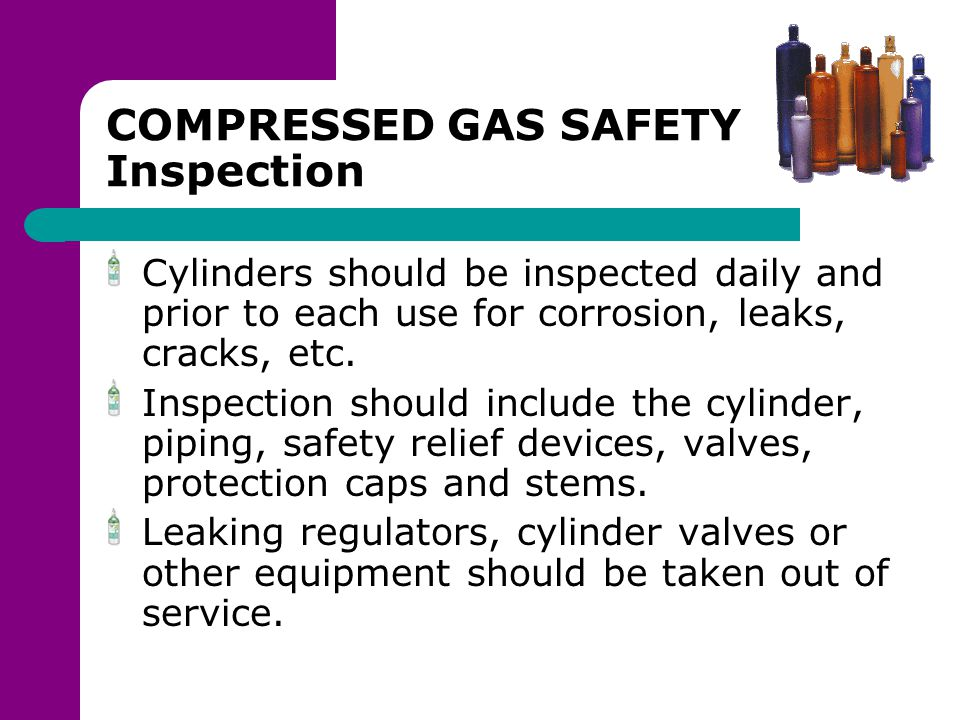 COMPRESSED GAS SAFETY Inspection