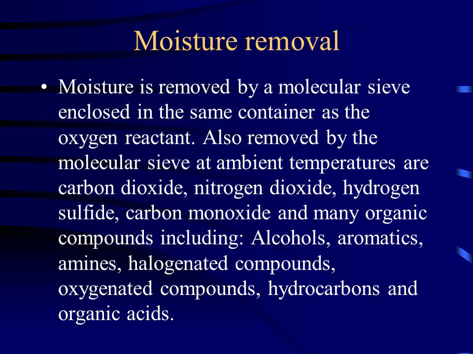 Moisture removal