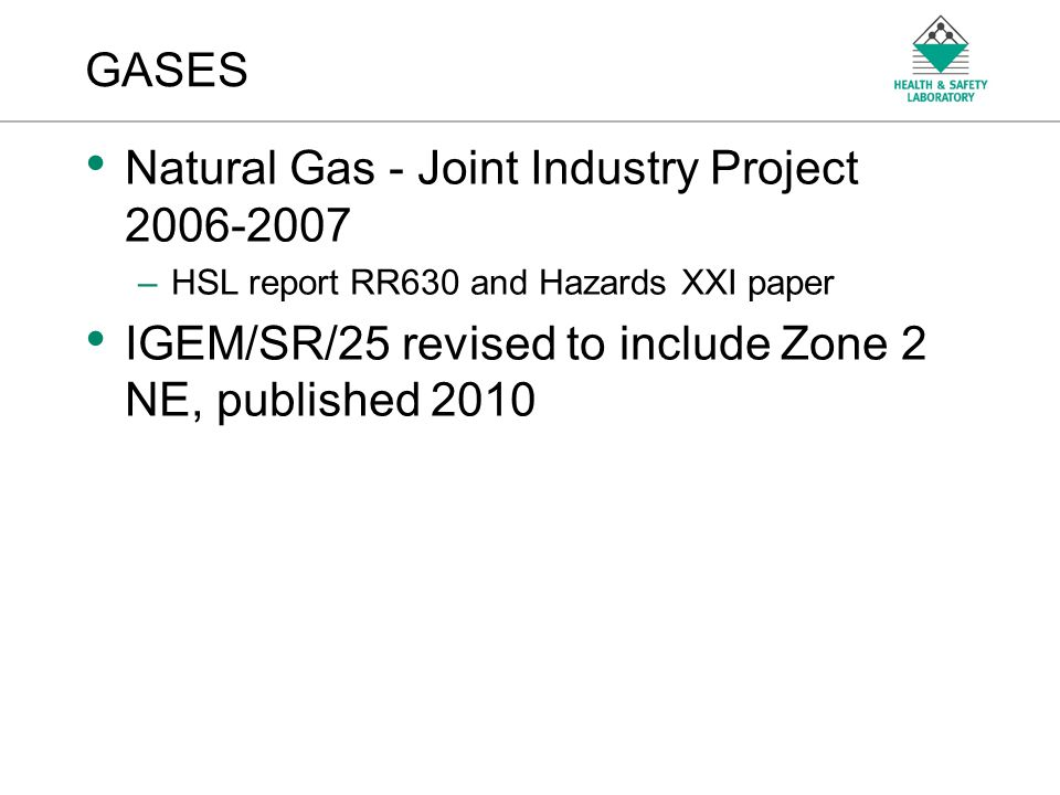 Natural Gas - Joint Industry Project 2006-2007