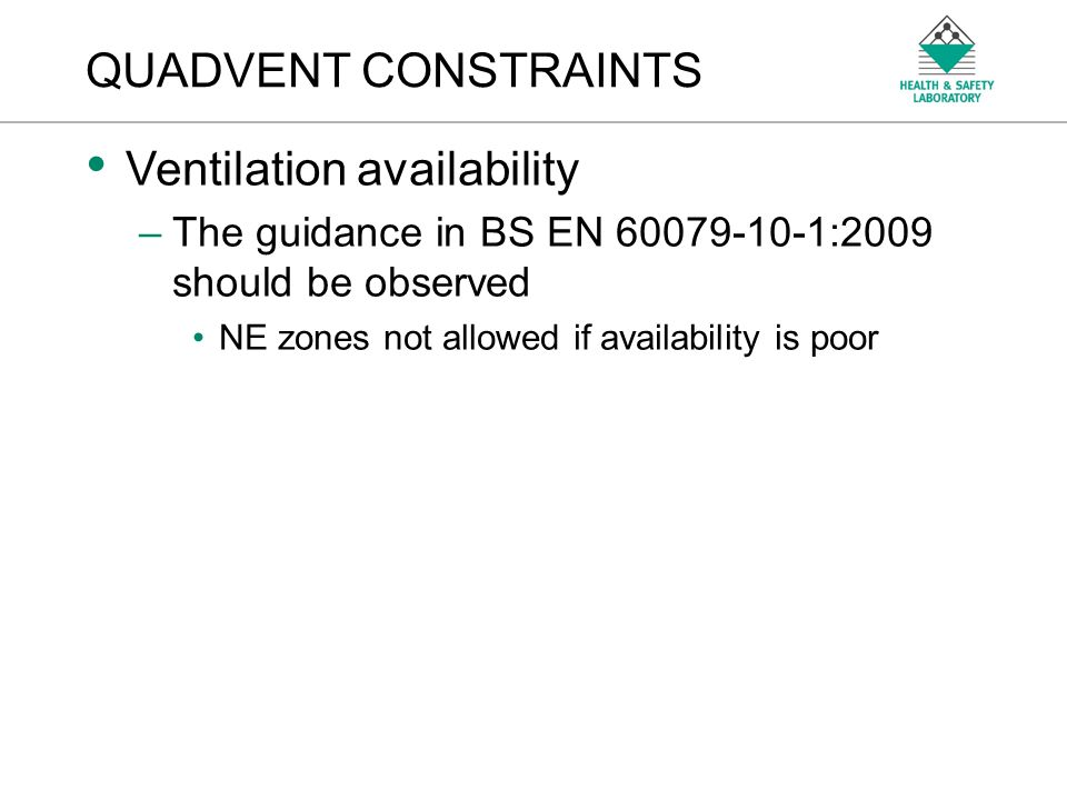 Ventilation availability