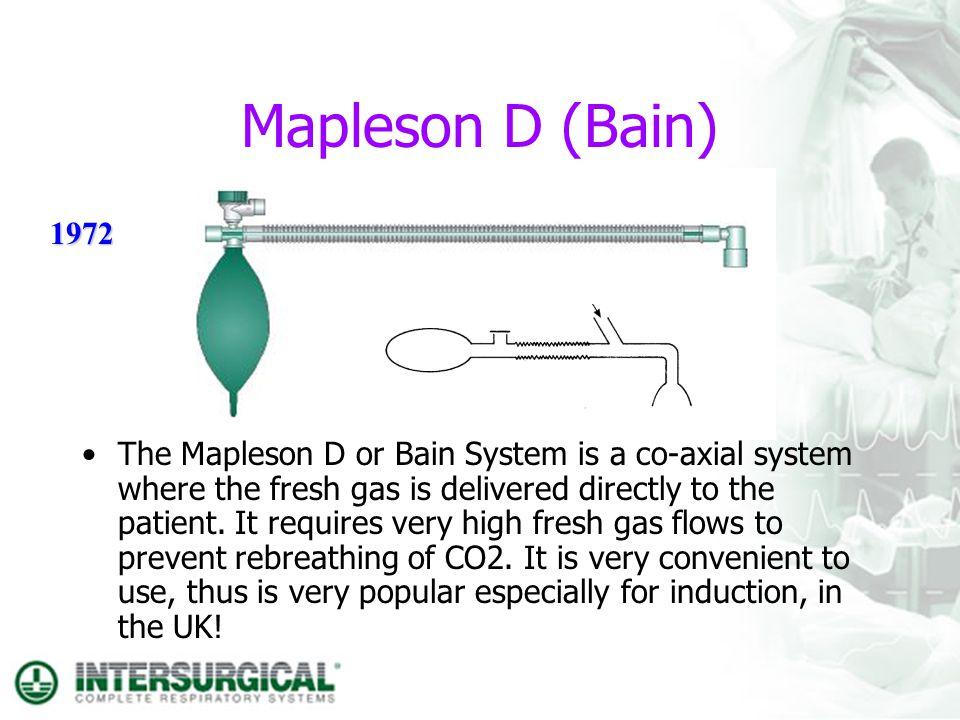Mapleson D (Bain) 1972.