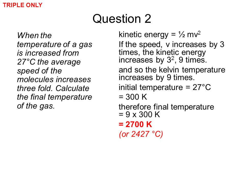 TRIPLE ONLY Question 2.