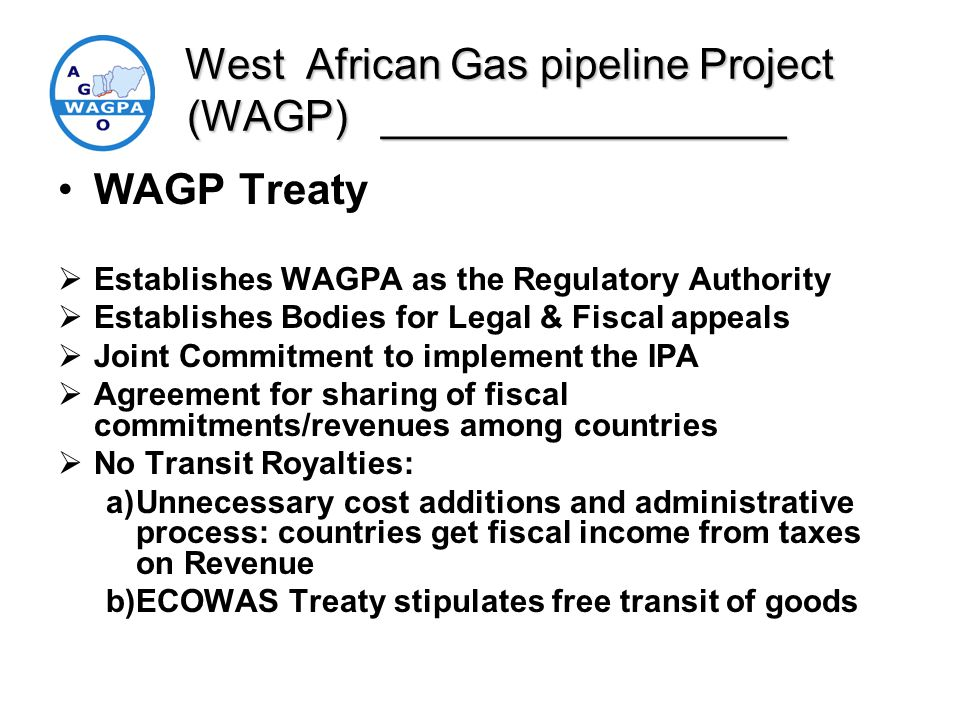 West African Gas pipeline Project (WAGP) _________________