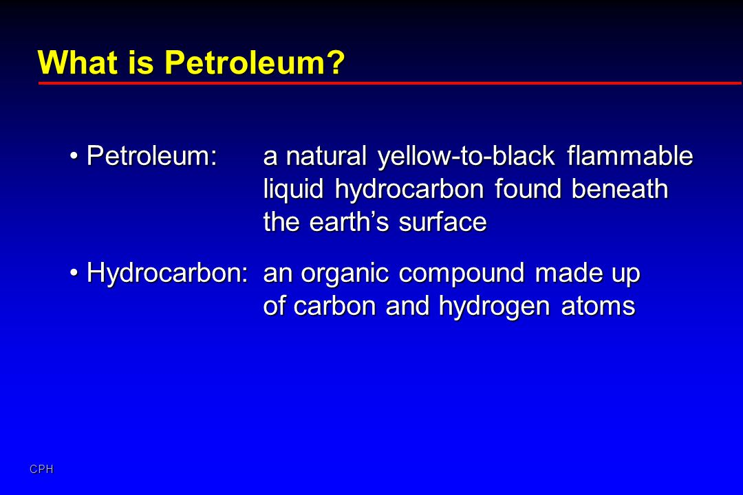 What is Petroleum Petroleum: a natural yellow-to-black flammable liquid hydrocarbon found beneath the earth's surface.