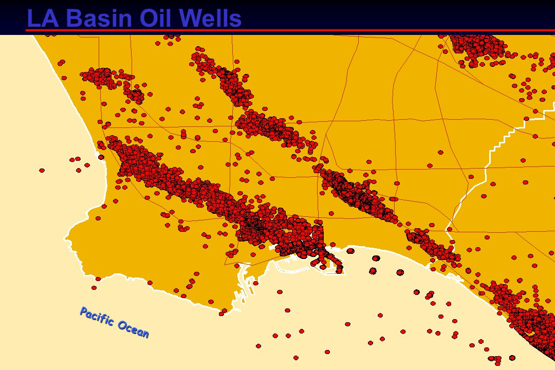 LA Basin Oil Wells Pacific Ocean