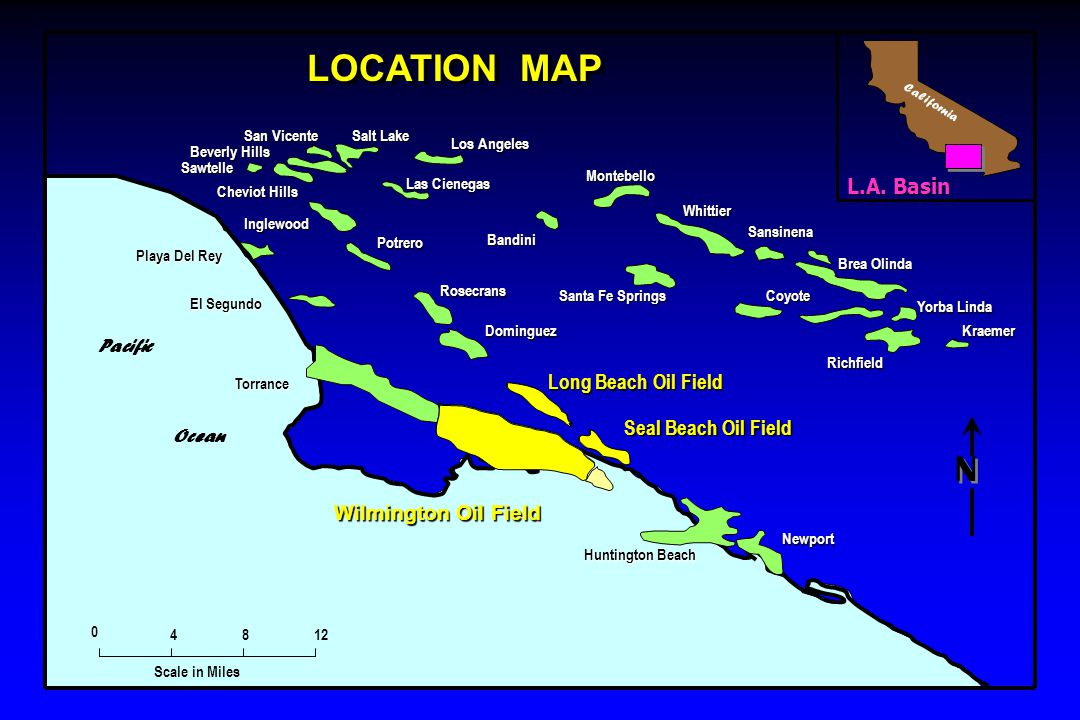 LOCATION MAP N L.A. Basin Long Beach Oil Field Seal Beach Oil Field