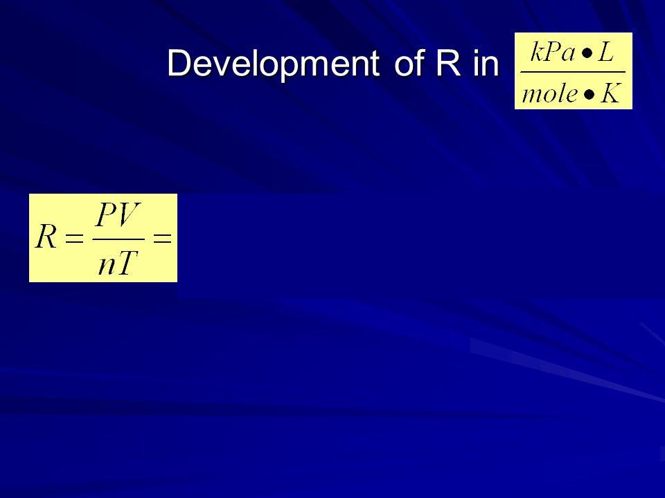 Development of R in