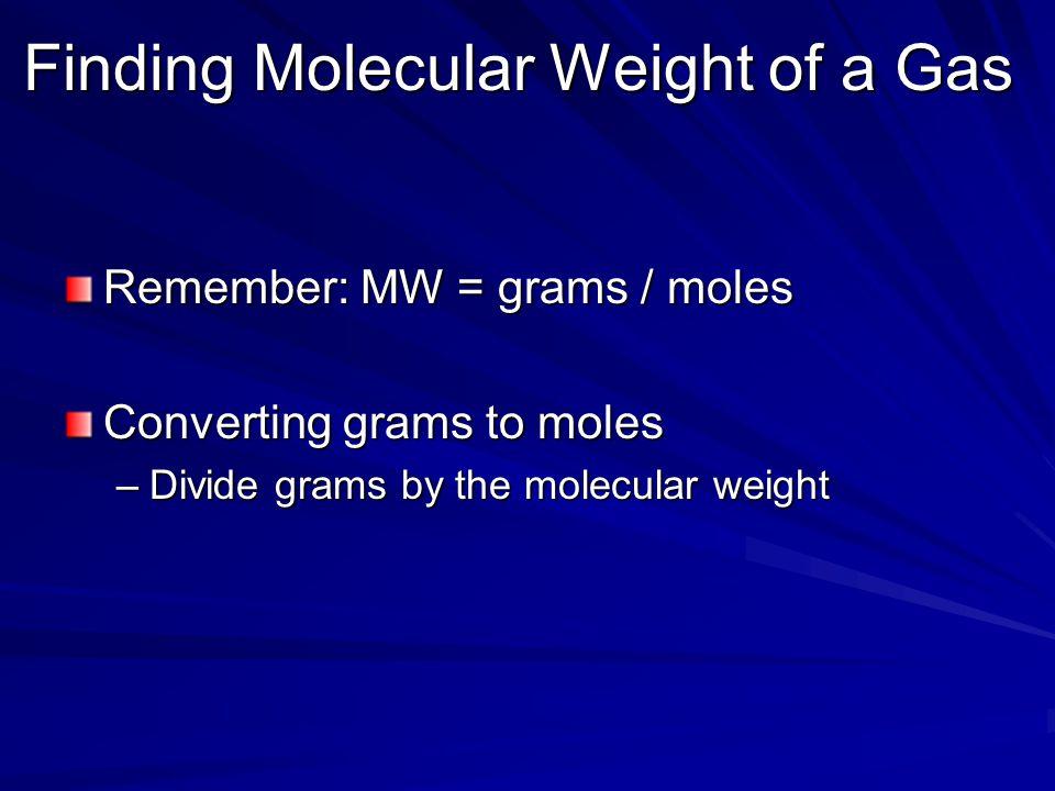 Finding Molecular Weight of a Gas