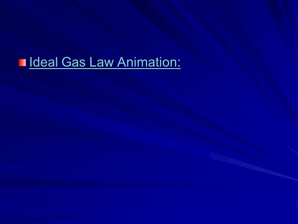Ideal Gas Law Animation:
