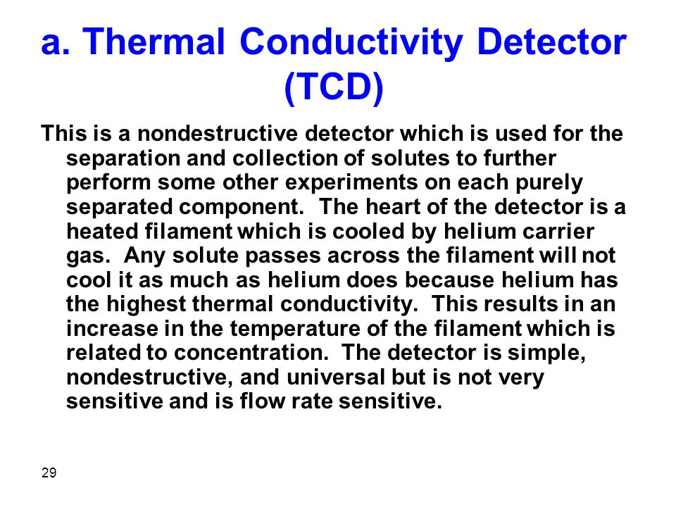 a. Thermal Conductivity Detector (TCD)