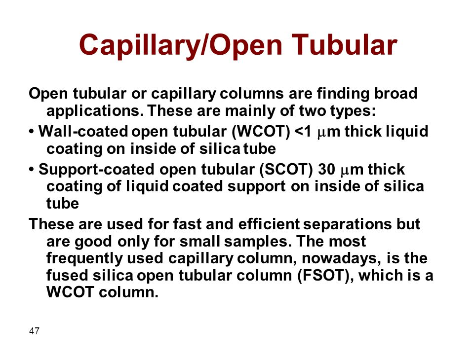 Capillary/Open Tubular