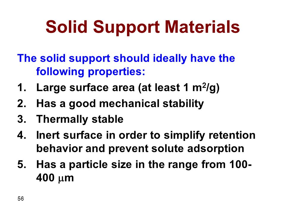 Solid Support Materials