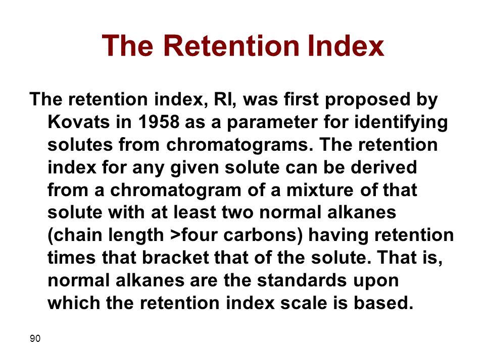 The Retention Index