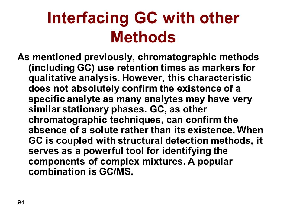 Interfacing GC with other Methods