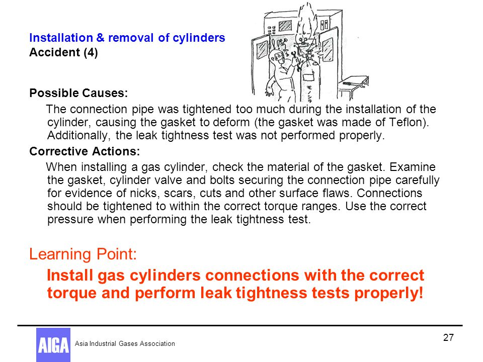 Installation & removal of cylinders Accident (4)