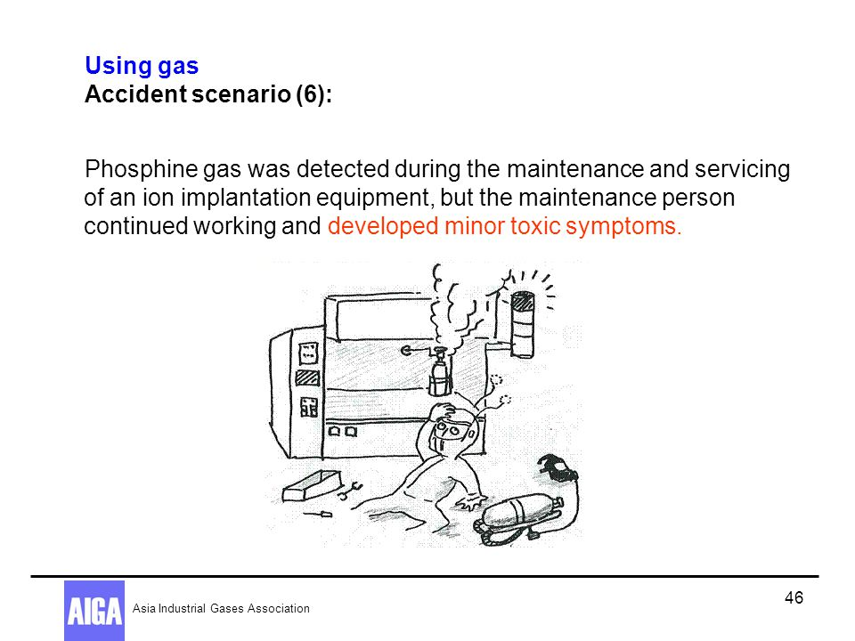Using gas Accident scenario (6):