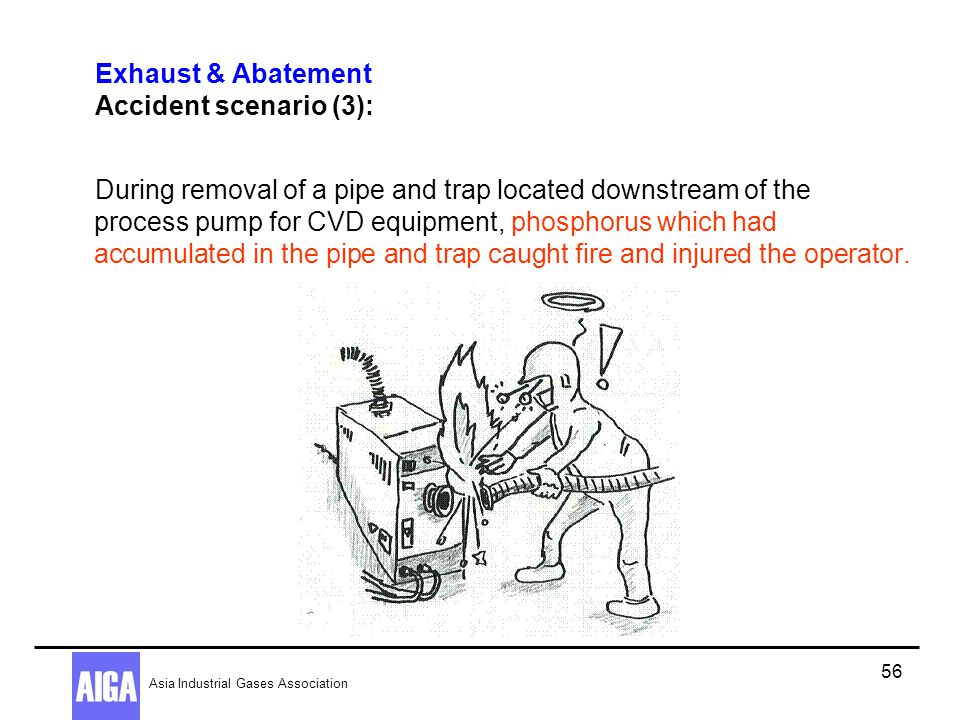 Exhaust & Abatement Accident scenario (3):