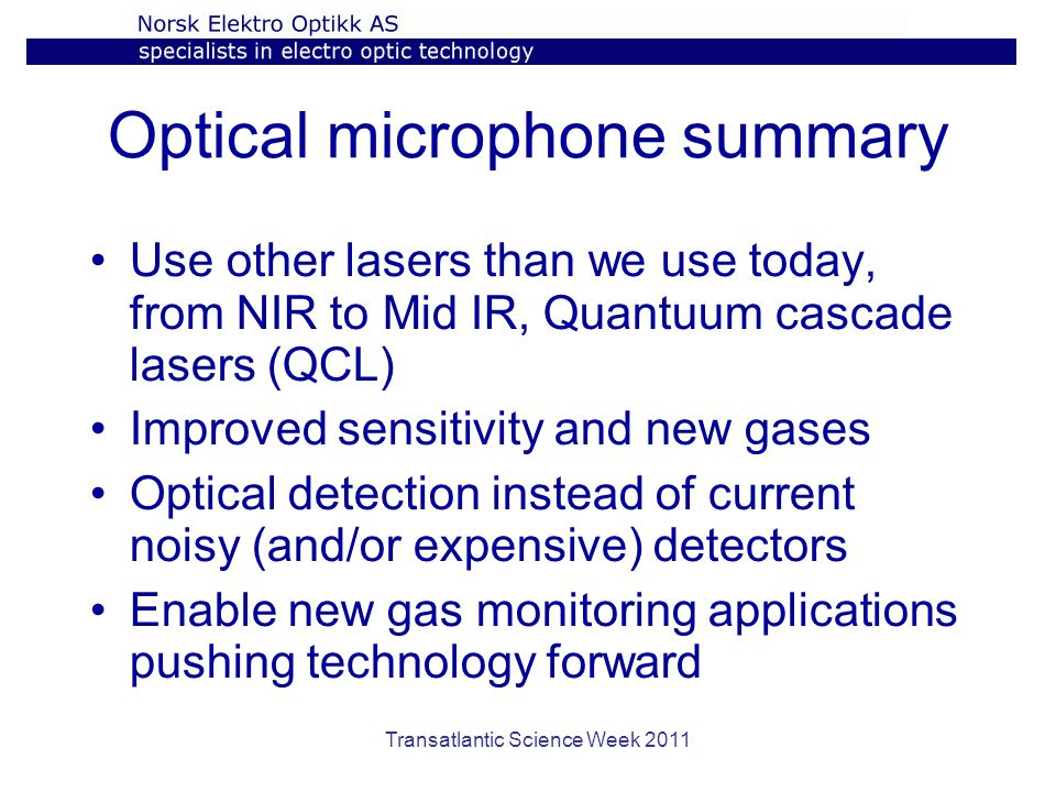 Optical microphone summary