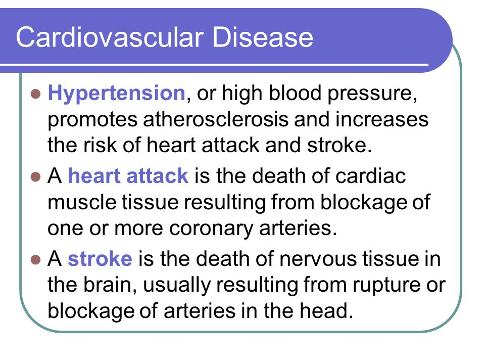 cardiovascular disease atherosclerosis and hypertension Hypertensive atherosclerotic cardiovascular disease (hacd) is a heart problem that is caused by hardening of arteries, which can be due to different reasons.