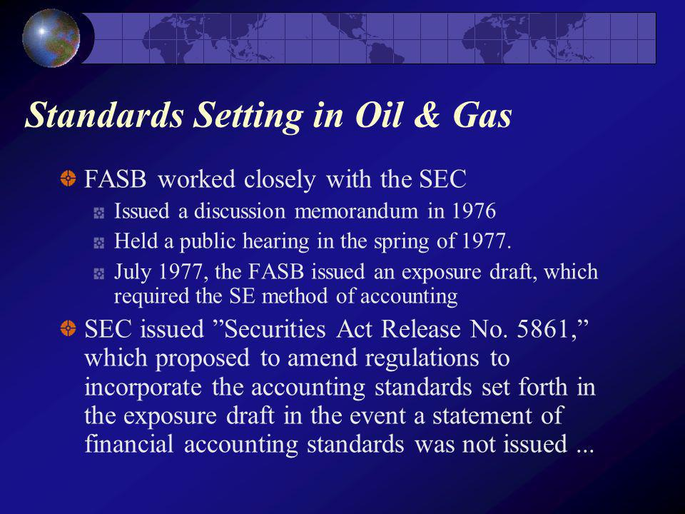 Standards Setting in Oil & Gas