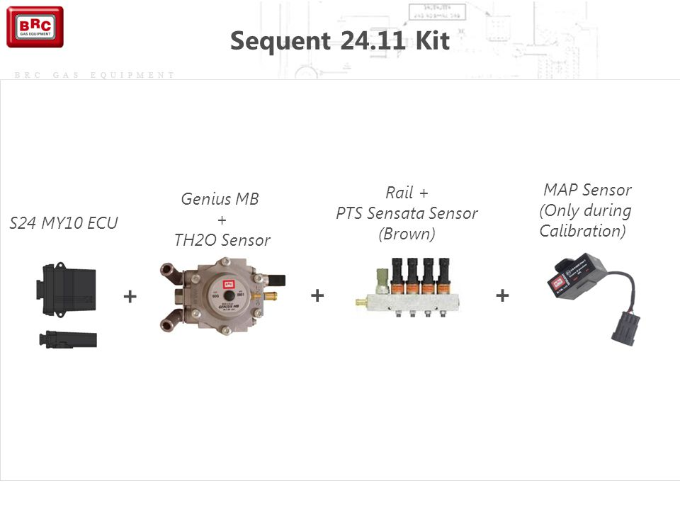 Sequent 24.11 Kit + + + Rail + PTS Sensata Sensor (Brown) MAP Sensor