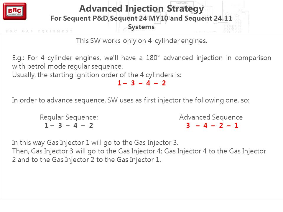 Advanced Injection Strategy