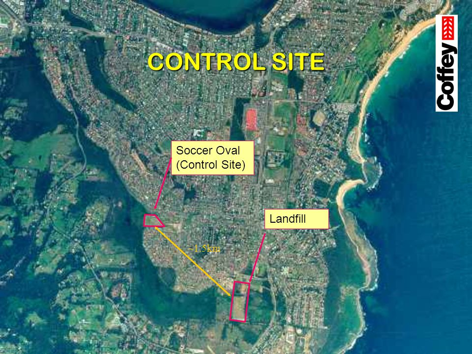 CONTROL SITE Soccer Oval (Control Site) Landfill ~1.5km
