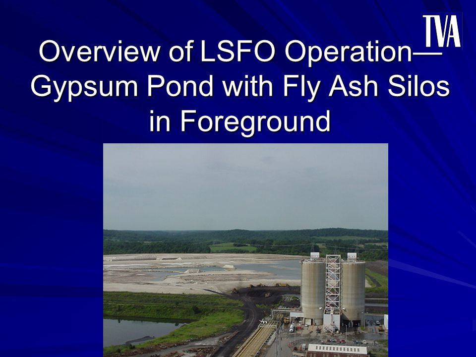 Overview of LSFO Operation—Gypsum Pond with Fly Ash Silos in Foreground