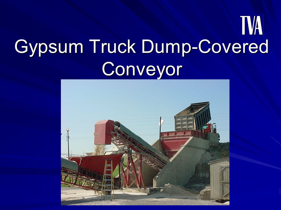 Gypsum Truck Dump-Covered Conveyor